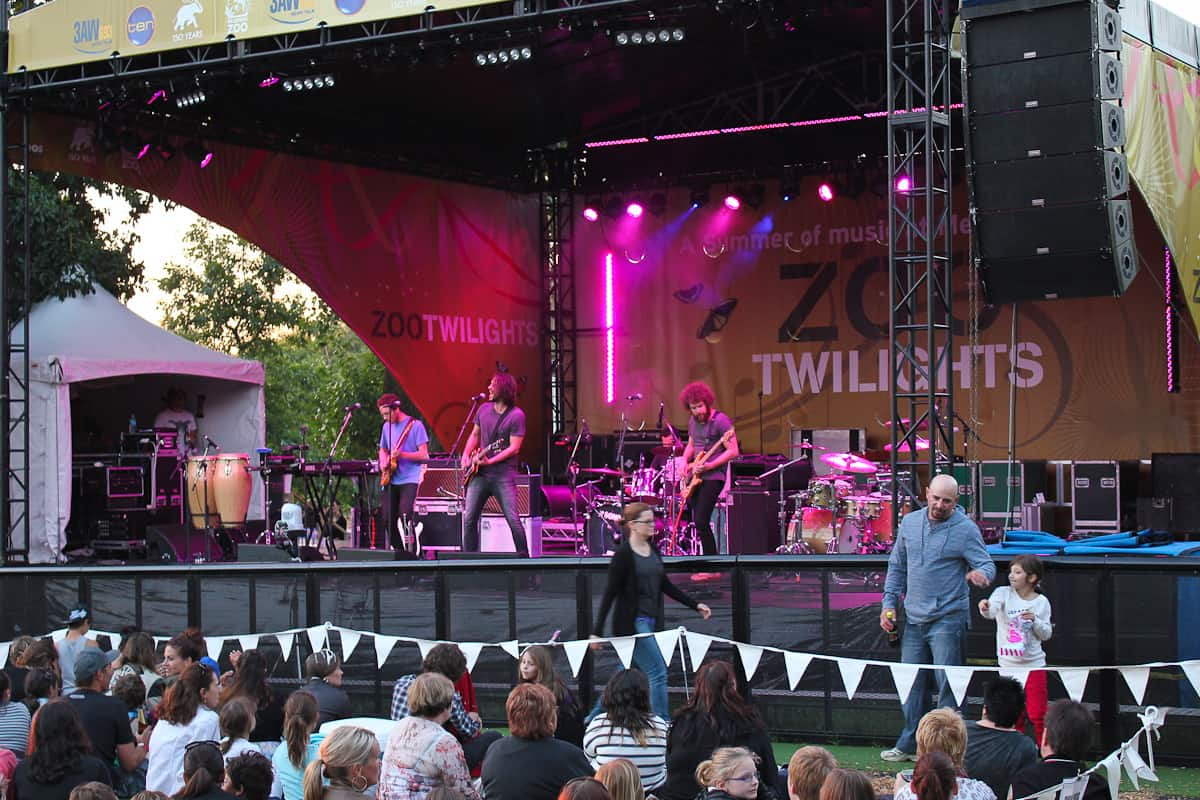 Rock out at the Melbourne Zoo Twilight Concert
